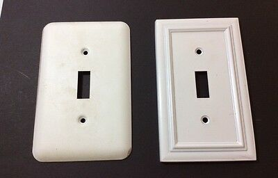Two Metal Single Light Switch Cover Plates