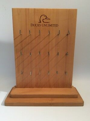 Ducks Unlimited, Counter Top Display ( 18 Peg Board ) Key Board, POS RACK, WOOD
