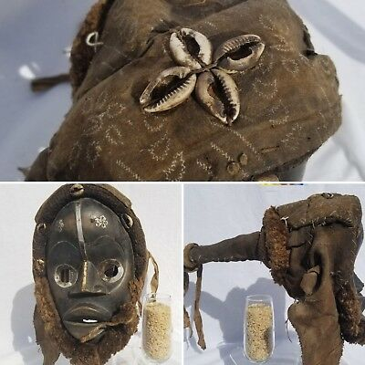 DECORATED Dan Gioh Headdress Mask Figure Sculpture Statue Fine African Art