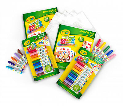 CRAYOLA COLOR NO Mess Coloring Bundle Free Safe Nontoxic Markers Fun Learn  Kids
