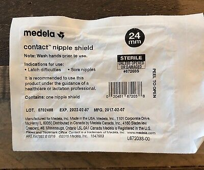 Medela Contact Nipple Shield, 24mm, Breastfeeding Aid, BPA Free, Medium
