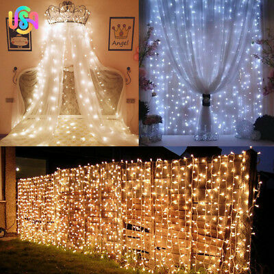 300LED String Fairy Lights Net Mesh Curtain Chrismas Wedding Party Light 3Mx3M