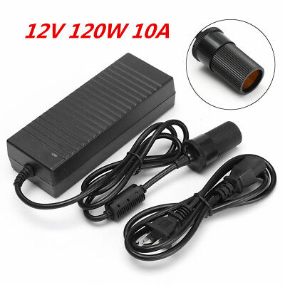 12W 240V Cigarette Lighter 10A Mains Plug to DC12V Car Charger Power Adapter