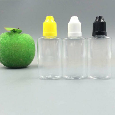 30ml PET Plastic Empty Dropper Liquid Juice Eye Water PET Flat Bottles Wholesale