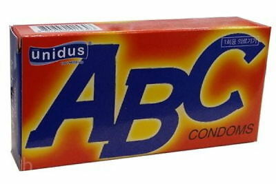 100PCS Unidus ABC Comdoms 10Pack Fit Condom Slicon Oil Real Super Ultra Soft v_e