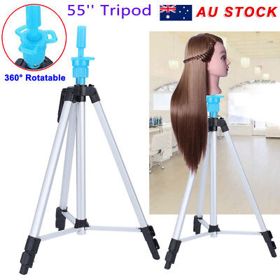 140cm Adjustable Tripod Stand Salon Mannequin Training Hair Practice Head Holder