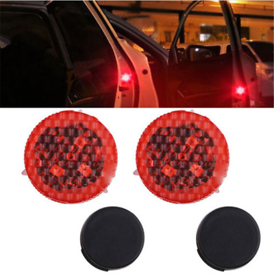 2xNew LED Universal Car Door Opened Warning Flash Light Kit Wireless Anti-collid