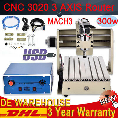 3020T Router 3 Axis 300W Engraver Engraving Drilling Milling CUTTING USB Desktop