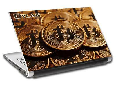 Bitcoin Cryptocurrency Personalized LAPTOP Skin Cover Decal Vinyl Sticker L758