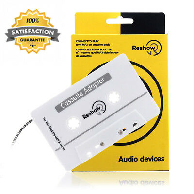 Reshow Travel Cassette Adapter for Cars – Listen to iPods, Smartphones, MP3...