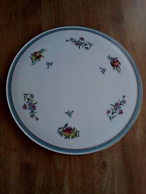 Spode Trapnell Sprays Gateaux Platter, 11 inch, gold border, perfect condition.