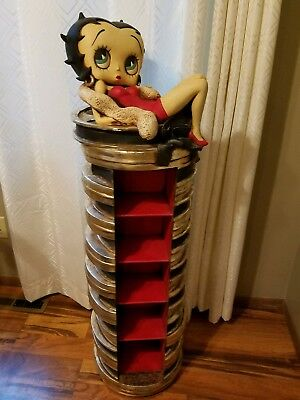 Betty Boop Ceramic DVD / CD holder 51 inches tall excellent condition