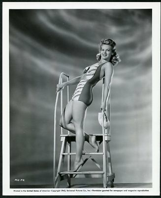 MARTHA O'DRISCOLL Original Vintage 1943 LEGGY CHEESECAKE UNIVERSAL PICTURE Photo