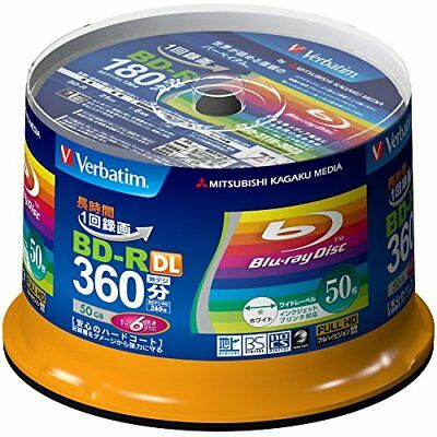 New 50 Verbatim Blank Blu-ray Discs 50GB BD-R DL 4x 6x bluray