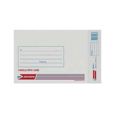 GoSecure Bubble Lined Envelope Size 4 180x265mm White (Pack of 20) PB02128