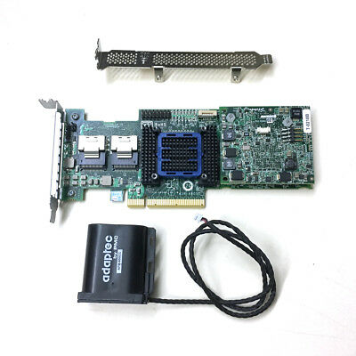 Adaptec ASR-6805T 8 Ports PCIE2 x8 512MB Cache SAS 6Gb Raid Controller + Battery