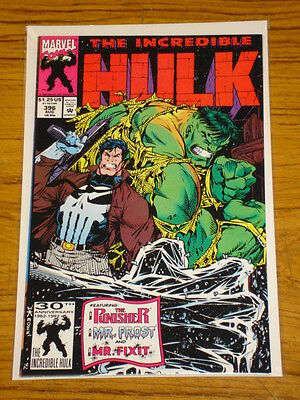Incredible Hulk #396 Vol1 Marvel Comics Punisher Apps August 1992