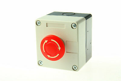 Emergency Stop Push Button Switch Red Sign 660V 10A US Stock