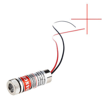 Focusable  650nm 5mW 5V Red Cross Line laser Diode Modul head Marking Line AIP