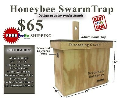 HONEYBEE SWARM BAIT TRAP (Brand New) - CATCH YOUR OWN BEES