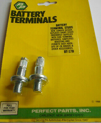 2 Extra Long Side Post Terminal Battery Charging Posts - Auto-Car-Truck-Boat NOS