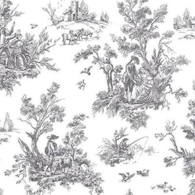 AB42413-Abby Rose 3 Toile Black Galerie Wallpaper FREE SHIPPING