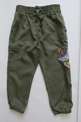 Girl`s Next Trousers Green Embroidered Size 3-11 yrs
