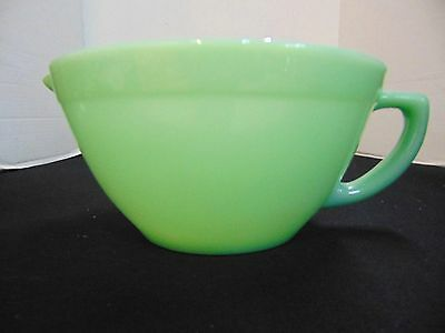 Vintage Fire King Jadeite Green Batter Mixing Bowl Handle Pour Spout