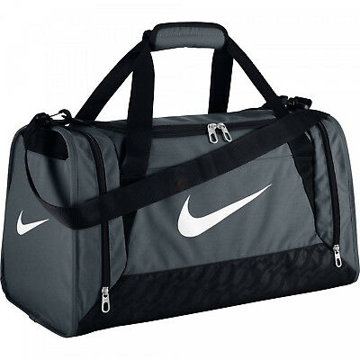 Nike Brasilia S Holdall Duffle Bag 44L Team Training Sports Gym Travel Kit GREY