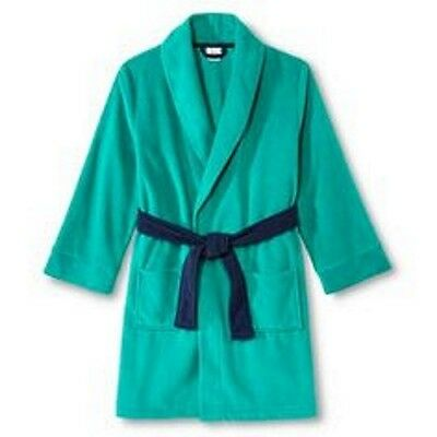 Circo Sleepwear Kids' Green Fleece Robe with Navy Blue Belt - Sizes M, L