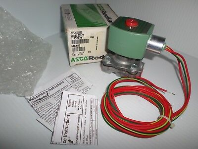 "*NEW IN BOX* ASCO RED HAT HVL2646892 2-Way SOLENOID VALVE 1/2"" 240Vac"