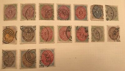 Early West Indies Danish 17 Stamps