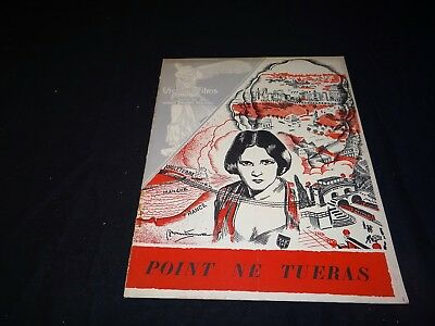 POINT NE TUERAS High Treason Benita Hume rare scenario cinema 1928 anticipation