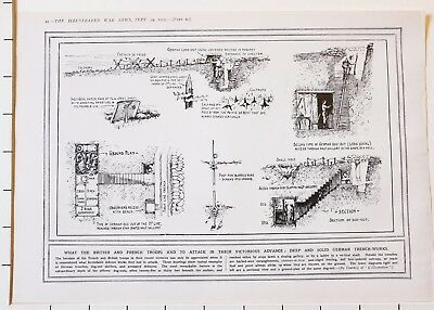 Astounding 1915 Wwi Ww1 Print German Trench Diagram Officers Dug Out Wiring Cloud Oideiuggs Outletorg