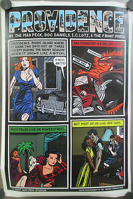 Mad Peck Studios Special Color Edition Providence Rhode Island Comic Poster