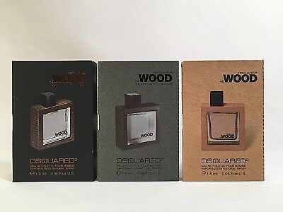 Dsquared2 He Wood & He Wood Rocky Mountain & Silver Wind Wood  3 x 1.5 ml vials