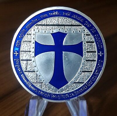Knights Templar coin, Soldier of Christ Deus Vult special forces