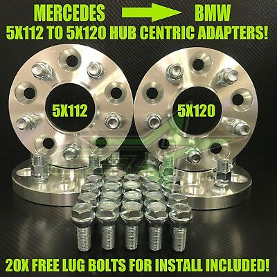 5X112 To 5X120 Hub Centric Wheel Adapters 17mm Use BMW Wheels On Mercedes Cars