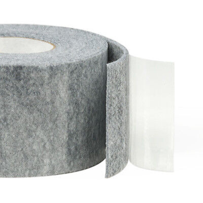 5m Self-Adhesive Felt Furniture Pad Roll Felt Strip White Black Grey 2- 6 mm T