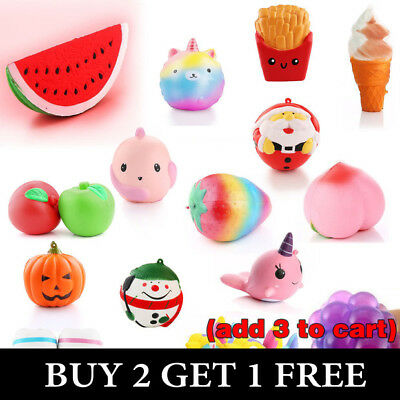Hot Jumbo Slow Rising Squishies Scented Charms Squishy Squeeze Toy Gift AU Stock