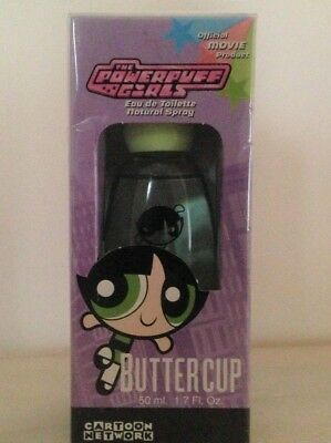 "Powerpuff Girls Perfume BUTTERCUP Warner Bros EDT Spray 1.7 oz ""Sealed box"""