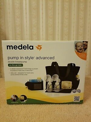 Medela Pump In Style Advanced Double Electric Breast Pump On-the-go-tote *New*