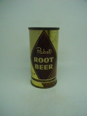 10 OUNCE-Pabst Root Beer Flat Top Soda Can-Mira-Can-Milwaukee WISCONSIN
