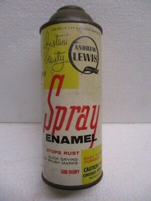 Vtg Can Spray Paint Andrew Lewis Instant Beauty #508 Ivory Color 15oz Ounce Can