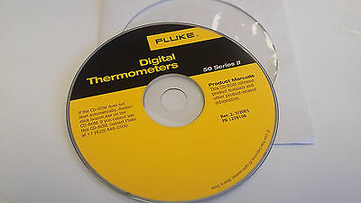 FLUKE Digital Thermometer 50 Series II / 2 product manual cd rom