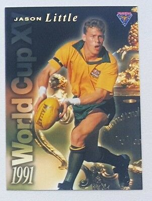 1995 Futera Rugby Union World Cup XV insert card #WC13 Jason Little