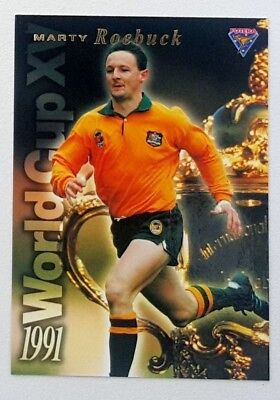 1995 Futera Rugby Union World Cup XV insert card #WC15 Marty Roebuck