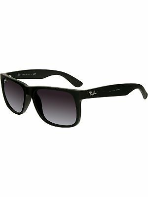 Ray-Ban Men's Gradient Justin RB4165-601/8G-54 Black Square Sunglasses