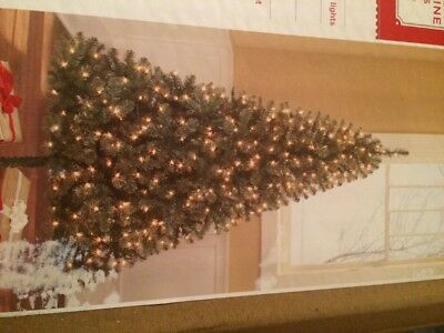 Holiday Time Pre Lit 6.5 Ft Madison Pine Christmas Tree  Clear Lights  New