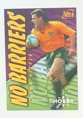 1996 Futera Rugby Union Hobby No Barriers insert card #NB1 Jason Little